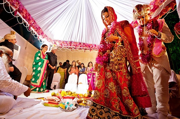 Image That Depicts The Indian Wedding Tradition.