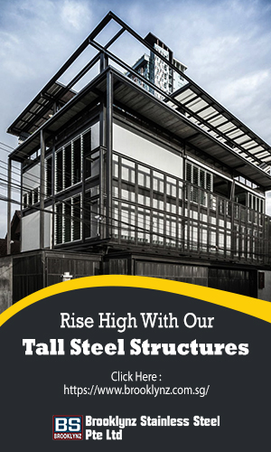 Structure Of Steel Base For Tall Building Construction On  A Clear Sky Background