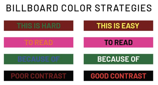 An Image Showing The COlor Strategies For A Successful Billboard Design