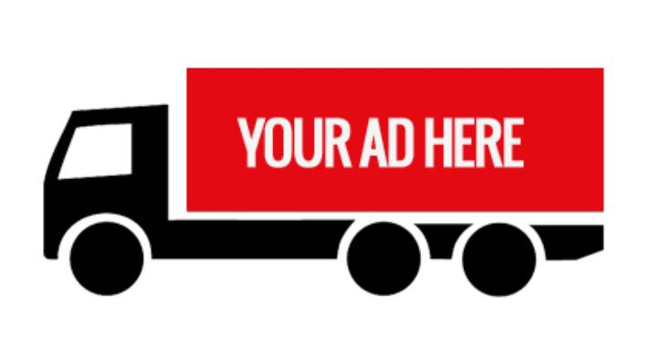 A Mockup Of Mobile Billboard Advertisement Truck
